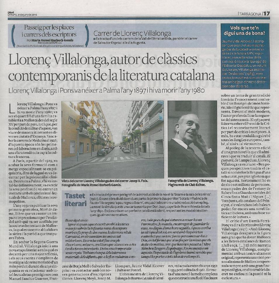 31. Llorenç Vilallonga
